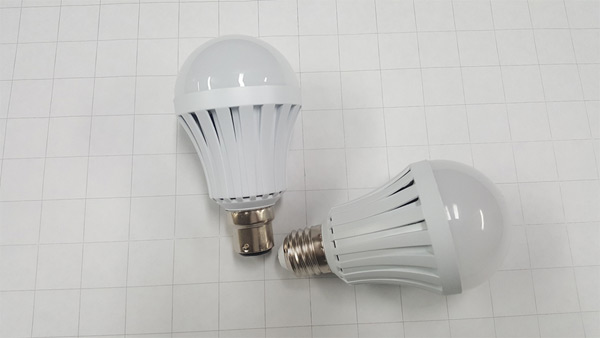 Sample NanoSmart Light Bulbs - Showing Different Connectors or Bases